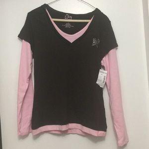 Fashion Bug mock layer hoodie